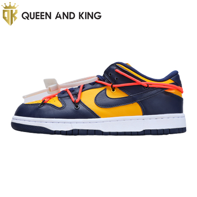 Nike Dunk Low Off White University Gold Midnighy Navi (REP 1:1)